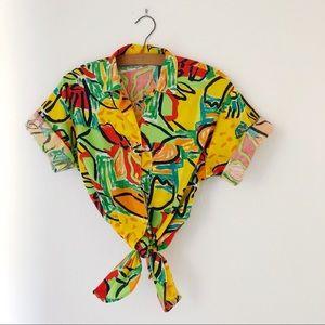 Vintage 90's bold bright stranger things shirt M/L